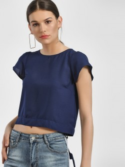 People Back Tie-Knot Crop Top
