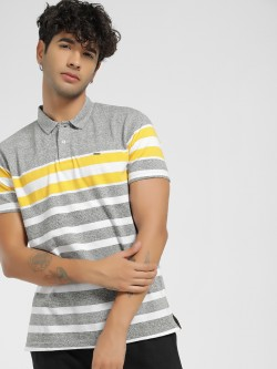 Lee Cooper Woven Stripe Polo Shirt