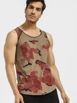 Disrupt All Over Camo Print Vest