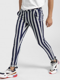 Kultprit Colour Block Stripe Skinny Jeans