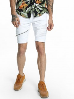 Kultprit Biker Panel Denim Shorts