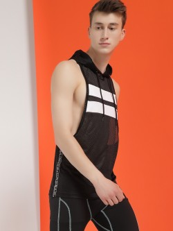 K ACTIVE Racerback Mesh Hooded Tank