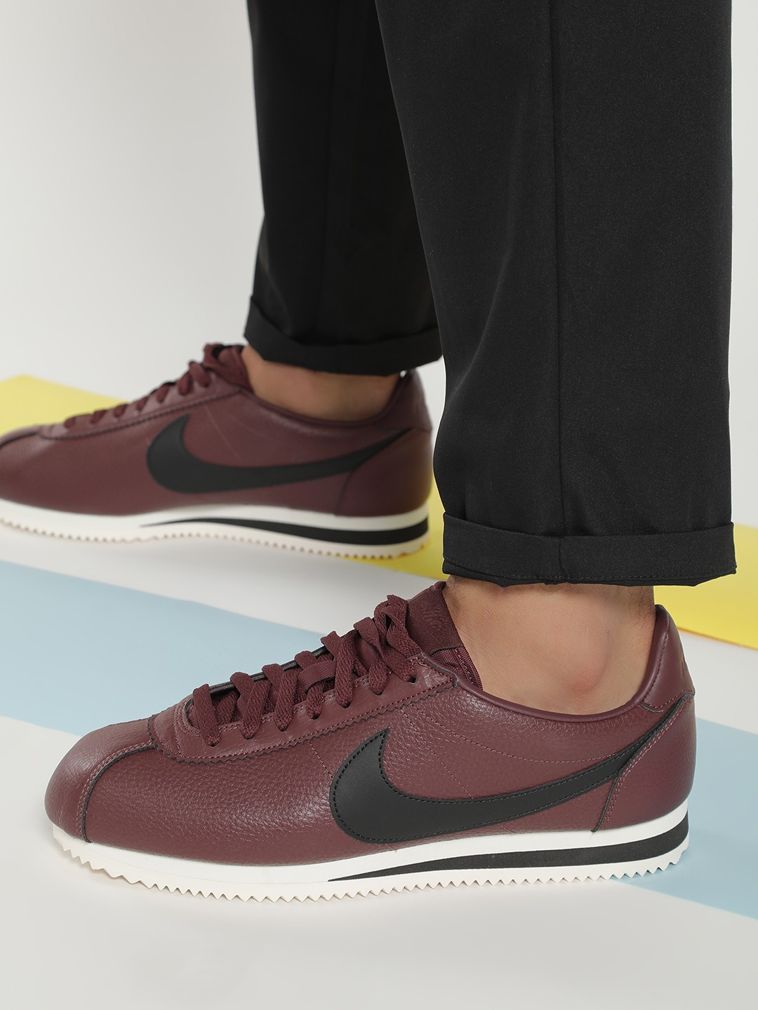 Nike Brown Classic Cortez Leather Shoes 1
