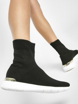 Sole Story Back Metallic Panel Knitted Sockliner Shoes