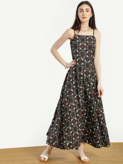 Kisscoast All Over Print Maxi Dress