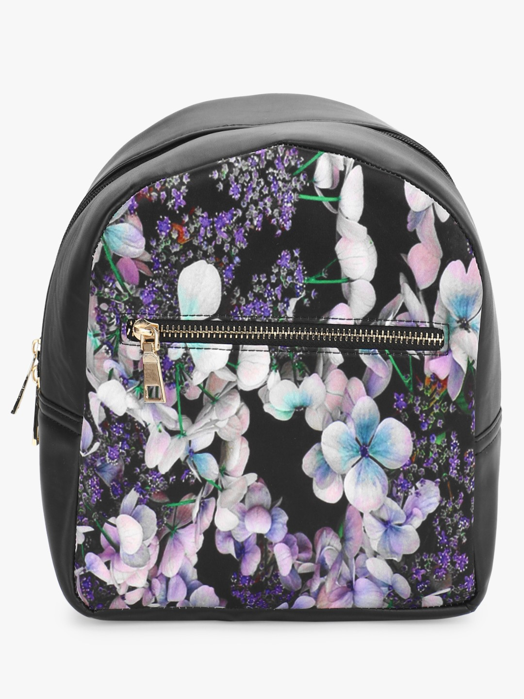 Gusto Multi Floral Print Mini Backpack 1