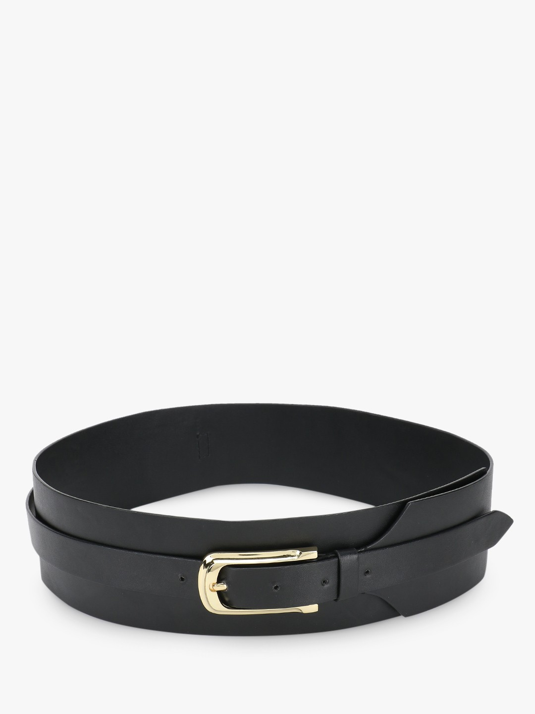 Gusto Black Broad Strap Cut-Out Belt 1