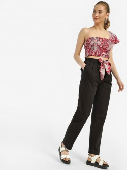 MIWAY Scarf Print Tie-Knot Trousers