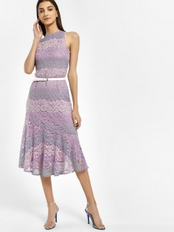 Vero Moda Marquee Lace Flounce Midi Dress