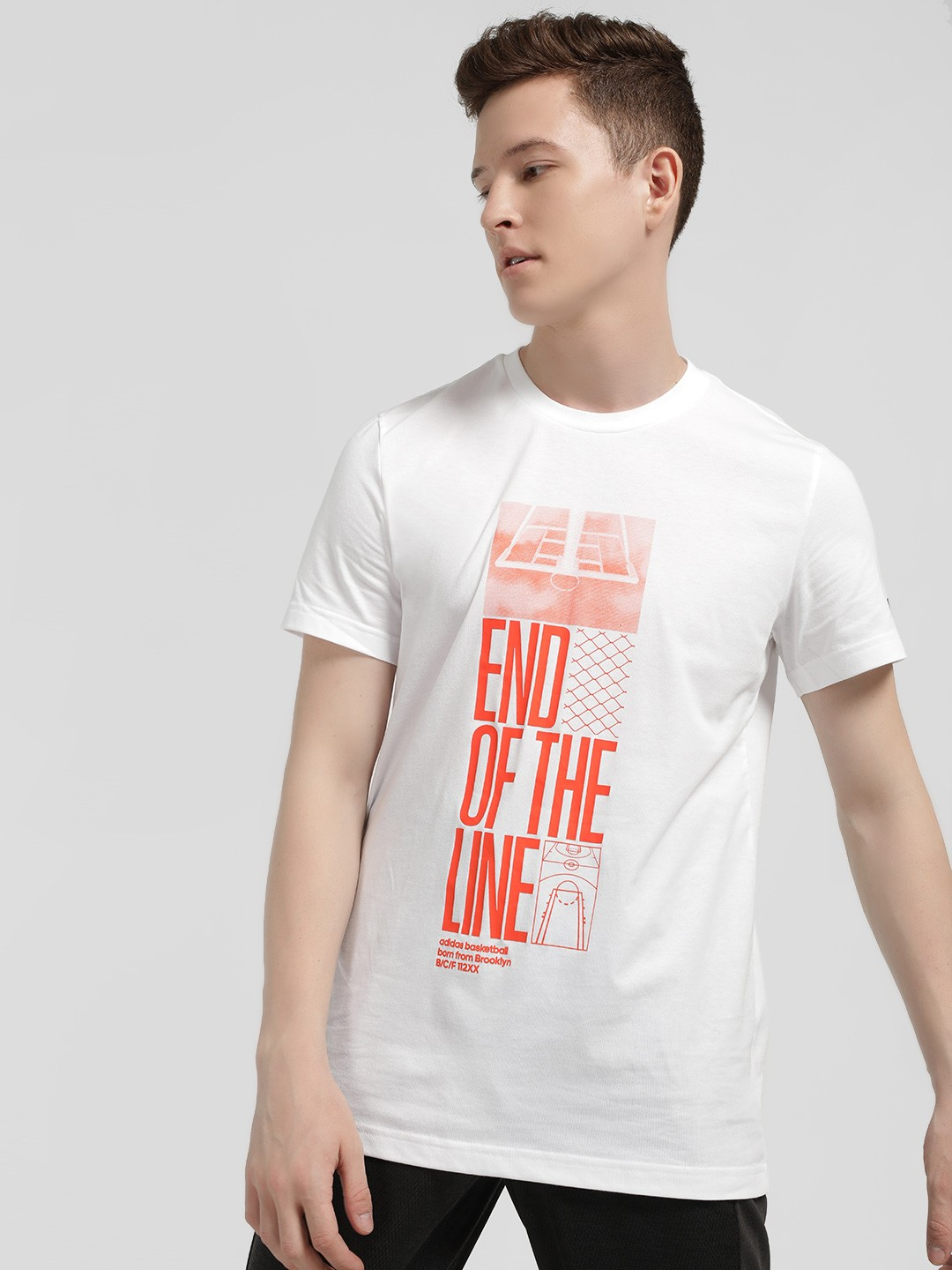 Adidas White End Of The Line Print T-Shirt 1