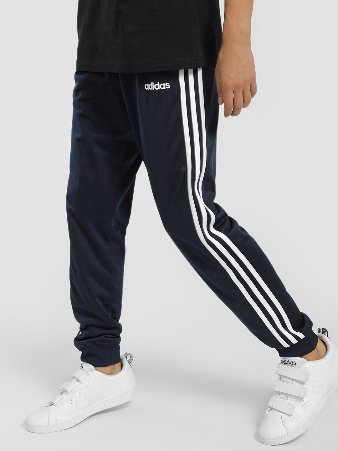 Buy Adidas Blue Essentials 3 Stripes Tricot Pants for Men
