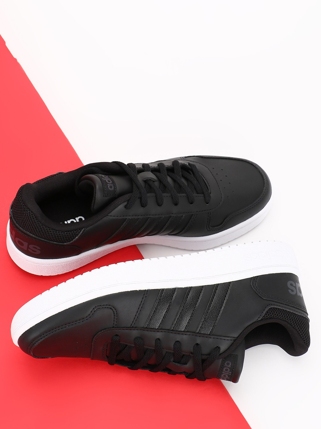 Adidas Black Hoops 2.0 Shoes 1