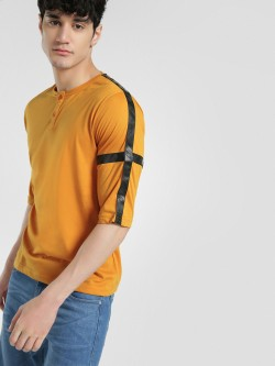 Deezeno Thunderbolt Cross Tape Henley T-Shirt