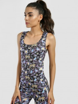 KOOVS Jungle Print Cropped Vest