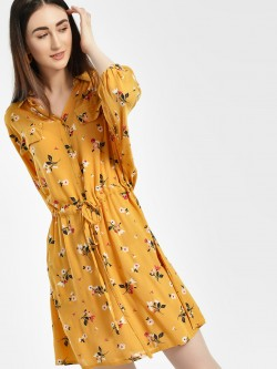 Miaminx Floral Print Shirt Dress