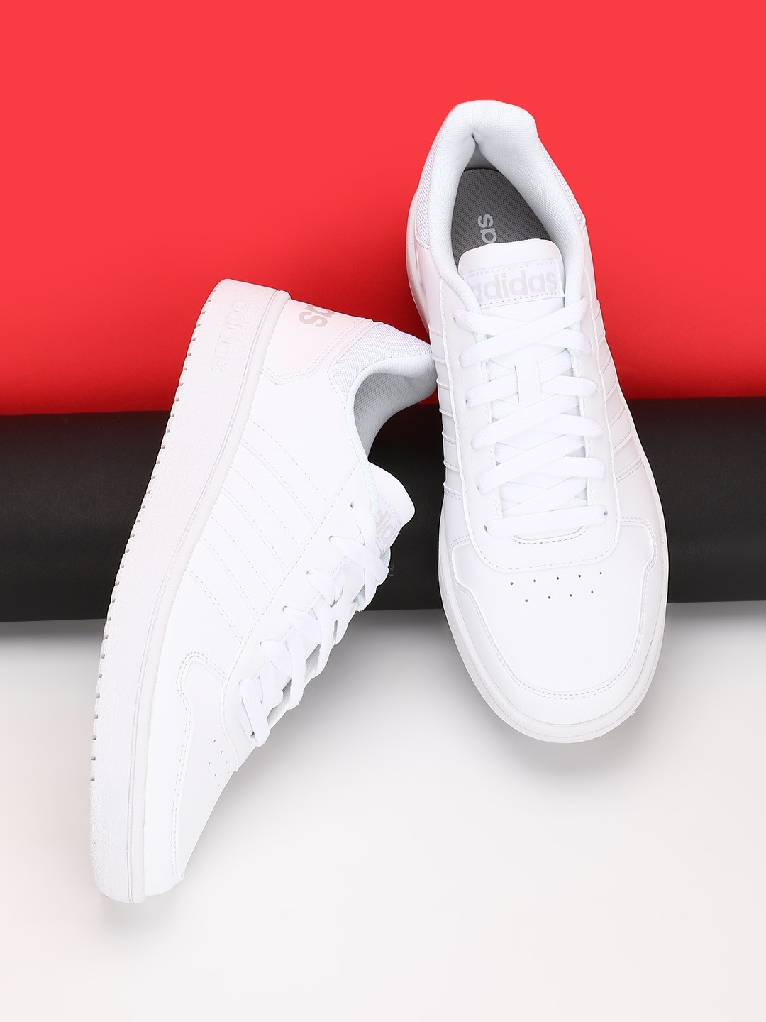 Adidas White Hoops 2.0 Shoes 1