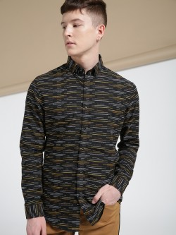 Mr Button Self Embroidered Long Sleeve Shirt