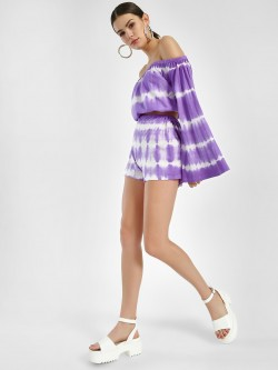 Sbuys Tie & Dye Belted Shorts
