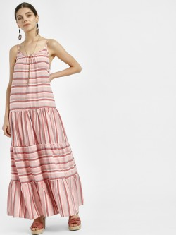 Sbuys Multi Stripe Maxi Dress