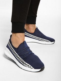 KOOVS Checkerboard Print Perforated Shoes