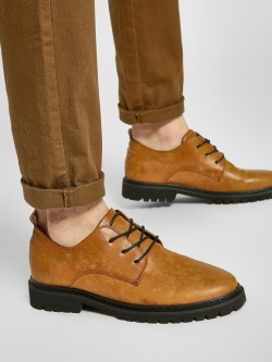 KOOVS Cleated Sole Derby Shoes