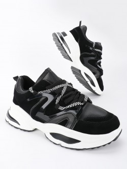 KOOVS Panelled Chunky Sole Trainers
