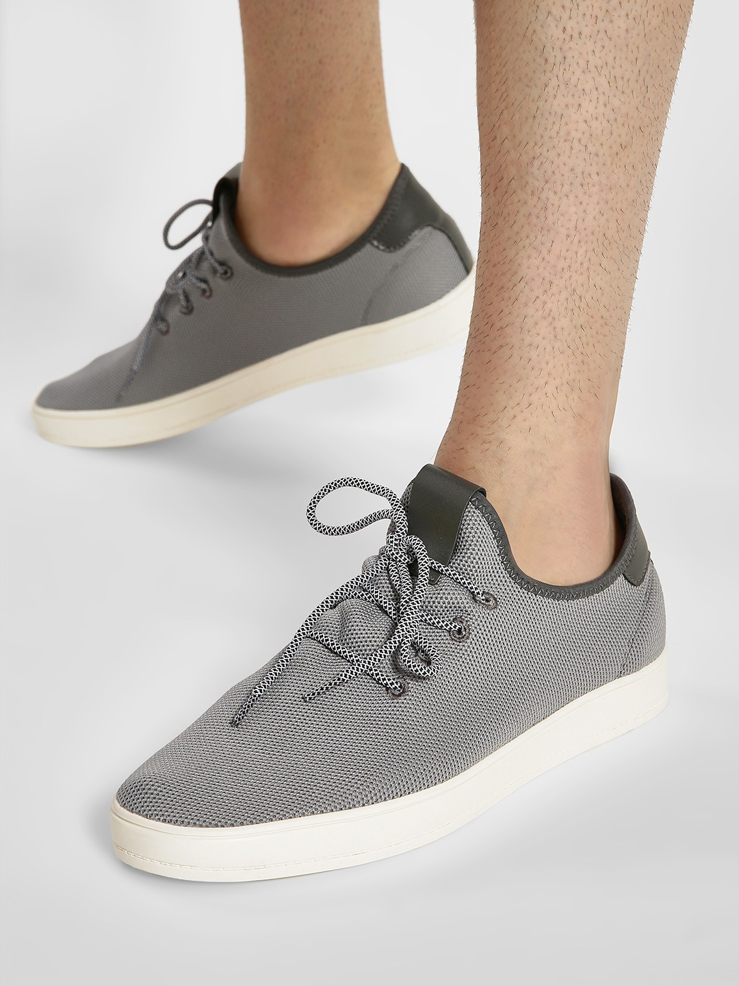Kindred Grey Knitted Sneakers 1