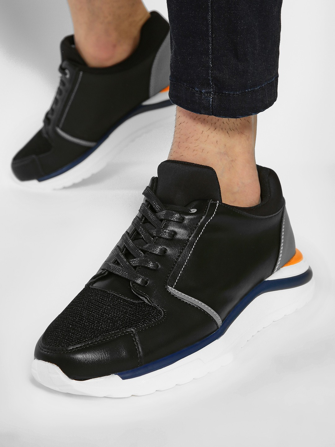 Kindred Black Colour Block Panelled Sneakers 1