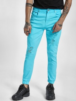K Denim KOOVS Overdyed Distressed Skinny Joggers