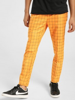 KOOVS Windowpane Check Smart Trousers