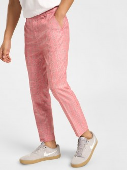 KOOVS Glen Check Smart Trousers