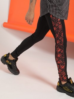 K ACTIVE KOOVS Snake Print Panel Sports Meggings