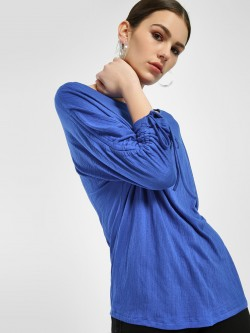 Femella Woven Tunnel Sleeve Top