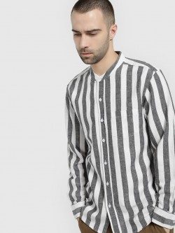 Spring Break Vertical Stripe Casual Shirt