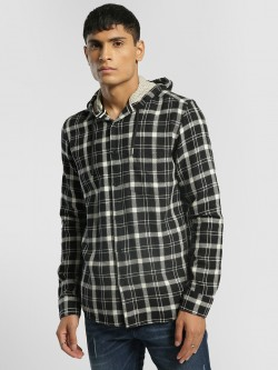 AMON Woven Multi-Check Hooded Shirt