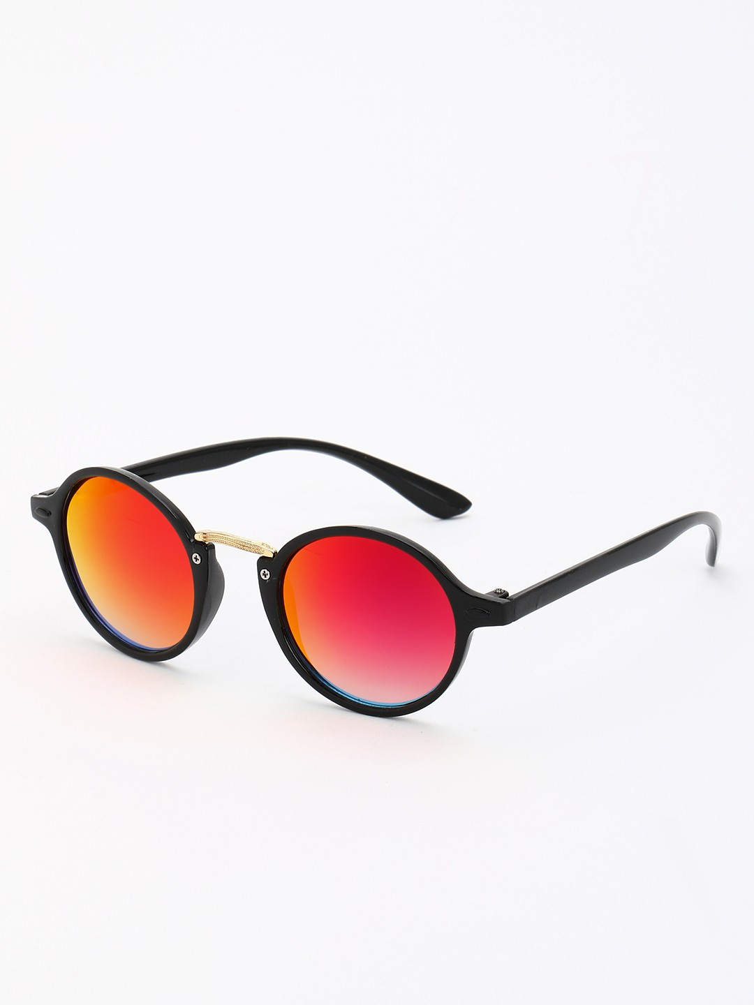KOOVS Red Reflective Lens Round Sunglasses 1