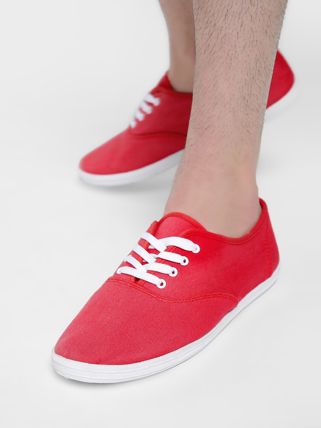 Alcott Red Lace-Up Sneakers 1
