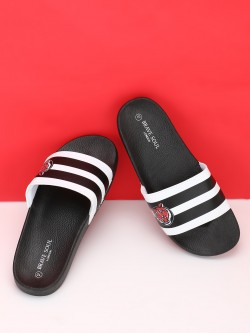 Brave Soul Tiger Patch Broad Strap Slides
