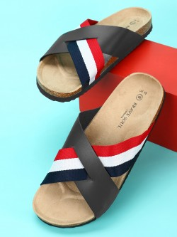 Brave Soul Colour Block Cross-Strap Slides