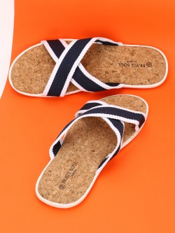 Brave Soul Knitted Cross Strap Slides