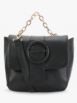 Paris Belle Buckle Flap Chain Sling Bag