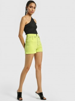 KOOVS High Waist Zippered Cargo Shorts