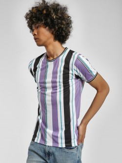 KOOVS Multi Stripe Muscle Fit T-Shirt