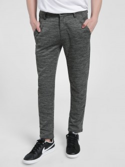KOOVS Space Dyed Knitted Slim Trousers