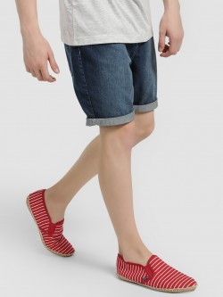 Brave Soul Knee-Length Mid-Wash Denim Shorts