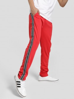 Brave Soul Checkerboard Side Tape Jog Pants