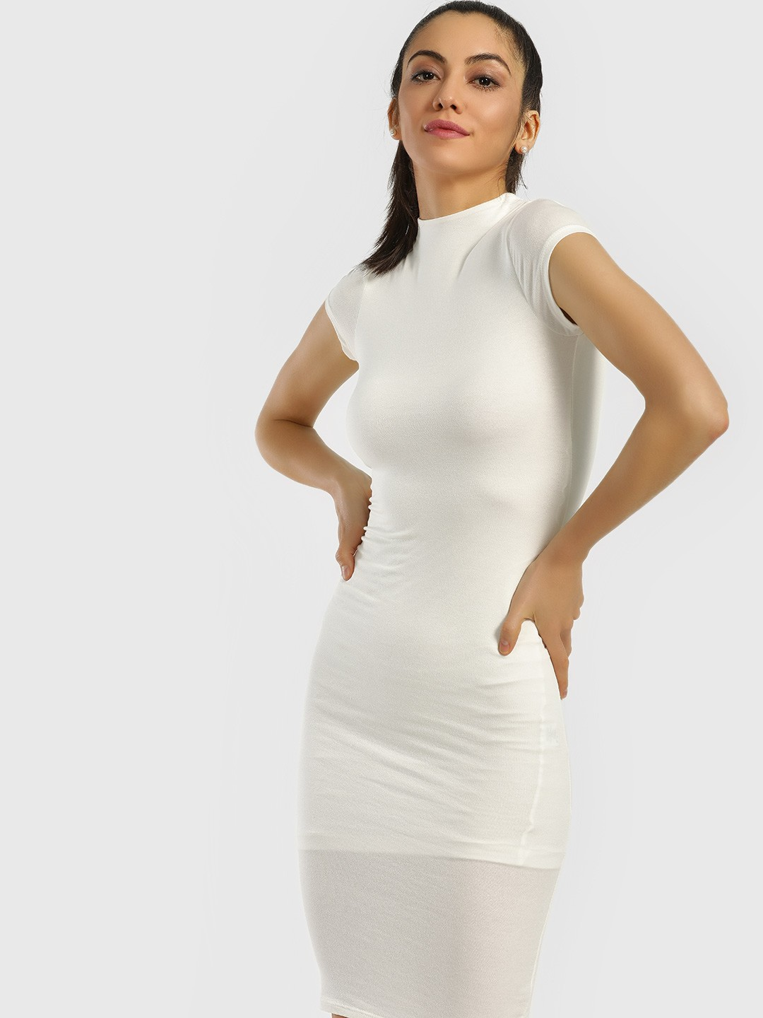 Iris Ivory Back Cut-Out Bodycon Dress 1