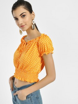 Iris Polka Dot Off-Shoulder Blouse