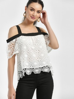 Iris Cold Shoulder Lace Detail Top