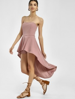 Iris Asymmetric Hem Off-Shoulder Dress